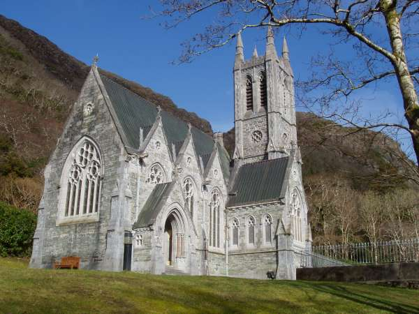 Gothic Church at Kylemore Abbe